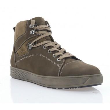 Ботинки мужские коричневые, нубук (5008 кор. Нб (шерсть)) Roma style