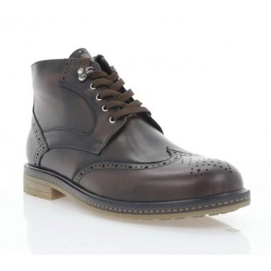 Купить Ботинки мужские коричневые, кожа (5012 кор. Шк (шерсть)) Roma style по лучшим ценам