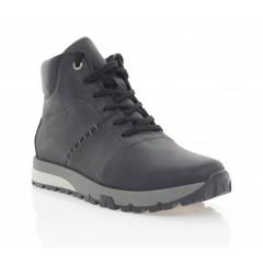 Ботинки мужские черные, кожа (5015-20 чн. Крейз (шерсть)) Roma style
