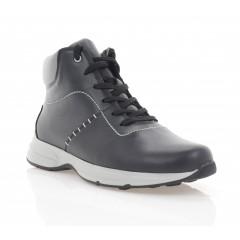 Ботинки мужские черные, кожа (5015-20 чн. Шк (шерсть)) Roma style