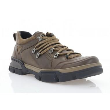 Кросівки чоловічі коричневі, шкіра (5016 кор. Шк) Roma style
