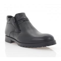 Ботинки мужские черные, кожа (5017 чн. Шк (нат.хутро)) Roma style