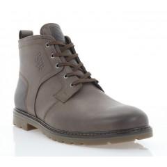 Ботинки мужские коричневые, кожа (5018 кор. Шк (шерсть)) Roma style