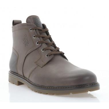 Купить Ботинки мужские коричневые, кожа (5018 кор. Шк (шерсть)) Roma style по лучшим ценам