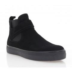 Ботинки мужские черные, замша (5019 чн. Зш (шерсть)) Roma style