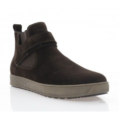 Ботинки мужские коричневые, замша (5019 кор. Зш (шерсть)) Roma style