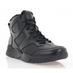 Ботинки мужские черные, кожа (5020 чн. Шк+Фл (шер)) Roma style