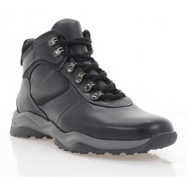Ботинки мужские черные, кожа (5021 чн. Шк (шерсть)) Roma style