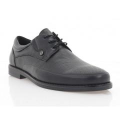Туфли мужские черные, кожа (5030 чн. Шк) Roma style