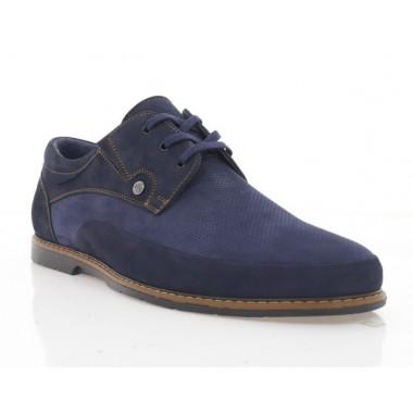 Туфли мужские синие, нубук (5030 сн. Нб) Roma style