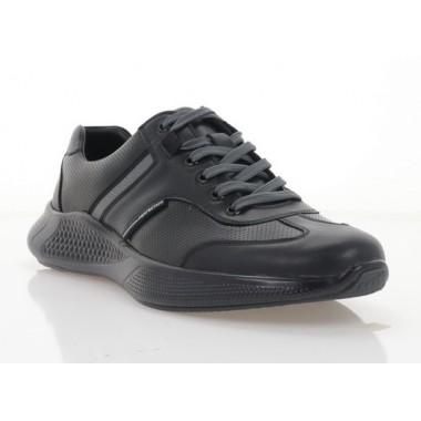 Кросівки чоловічі, чорні, шкіра (5035-21 чн. Шк) Roma style