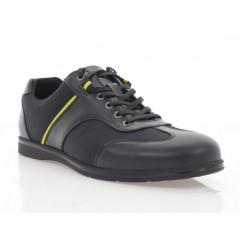 Туфли мужские, черные, кожа/сетка (5035 чн. Шк) Roma style