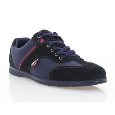 Туфли мужские, синие, замша/сетка (5035 сн. Зш) Roma style