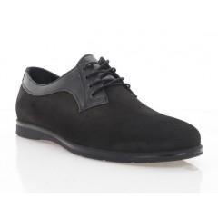 Туфли мужские черные, нубук (5037 чн. Нб) Roma style