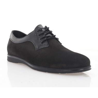 Купить Туфли мужские черные, нубук (5037 чн. Нб) Roma style по лучшим ценам