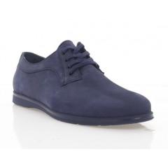 Туфли мужские синие, нубук (5037 сн. Нб) Roma style