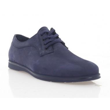 Туфлі чоловічі сині, нубук (5037 сн. Нб) Roma style