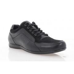 Туфли мужские, черные, кожа/замша (5038 чн. Шк+Зш) Roma style