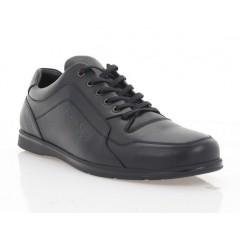 Туфли мужские, черные, кожа (5038 чн. Шк) Roma style