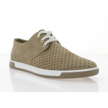 Туфлі чоловічі капучіно, нубук (5039-20 сіро-беж. Нб) Roma style