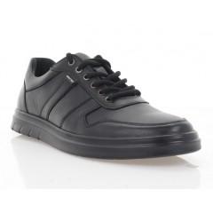 Туфли мужские черные, кожа (5043 чн. Шк) Roma style
