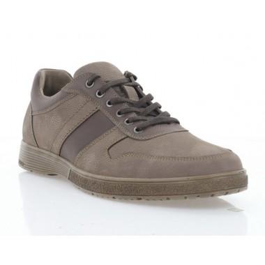 Туфли мужские коричневые, нубук (5043 кор. Нб) Roma style