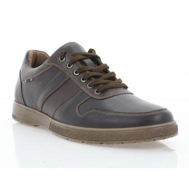 Туфли мужские коричневые, кожа (5043 кор. Шк) Roma style