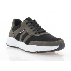 Кросівки чоловічі чорні/сірі, нубук (5044-21 чн+сір. Нб) Roma style