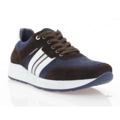 Кросівки чоловічі сині/коричневі/білі, нубук/замш/шкіра (5044 кор.Зш_сн.Нб) Roma style