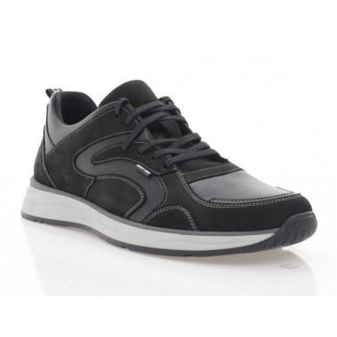 Кросівки чоловічі чорні, нубук/шкіра (5045 чн. Шк+Нб) Roma style