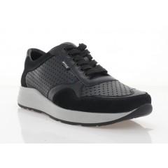 Кросівки чоловічі чорні, шкіра/замш (5046-21 чн. Шк) Roma style