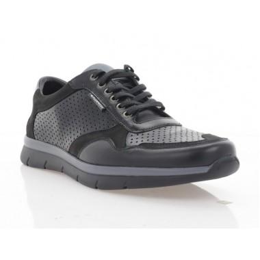 Купити Кросівки чоловічі чорні, шкіра/нубук (5046 чн. Шк) Roma style за найкращими цінами