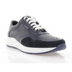 Кросівки чоловічі сині, шкіра/замш (5046 сн. Шк+Зш) Roma style