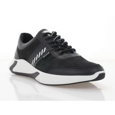 Кросівки чоловічі чорні/білі, шкіра (5049-21 чн. Шк) Roma style