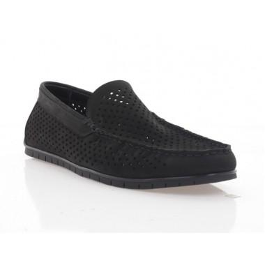 Купить Мокасины мужские черные, нубук (5050 D чн. Нб) Roma style по лучшим ценам