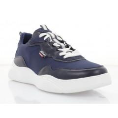 Кросівки чоловічі сині/білі, шкіра/сітка (5052 сн. Шк) Roma style