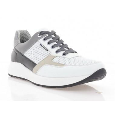 Купити Кросівки чоловічі білі/чорні/сірі, шкіра/нубук (5053 біл. Шк) Roma style за найкращими цінами