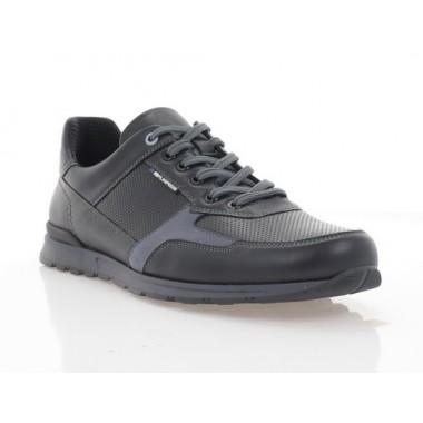 Кросівки чоловічі чорні/сірі, шкіра/нубук (5053 чн. Шк) Roma style