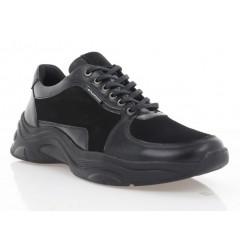 Кросівки чоловічі чорні, шкіра/замш (5054 чн. Шк) Roma style