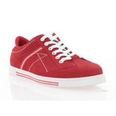 Кеды мужские красные/белые, нубук/кожа (5055 черв. Нб) Roma style
