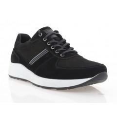 Кроссовки мужские черные, замша (5056 чн. Зш) Roma style