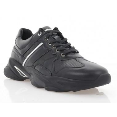 Купити Кросівки чоловічі чорні, шкіра (5060 чн. Шк) Roma style за найкращими цінами