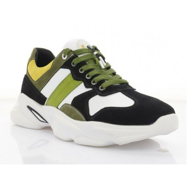 Купити Кросівки чоловічі білі/чорні/хакі/жовті, шкіра/замш/нубук (5060 хакі. Нб) Roma style за найкращими цінами