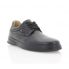 Туфли мужские черные, кожа (5071 чн. Шк) Roma style