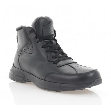 Ботинки мужские черные, кожа (5072-20 чн. Шк (шерсть)) Roma style