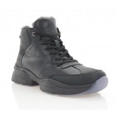 Ботинки мужские черные, кожа (5072 чн. Шк (шерсть)) Roma style