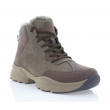 Ботинки мужские коричневые, кожа/нубук (5072 кор. Шк (шерсть)) Roma style