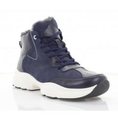 Ботинки мужские синие, кожа/нубук (5072 сн. Шк+Нб (шерсть) ) Roma style