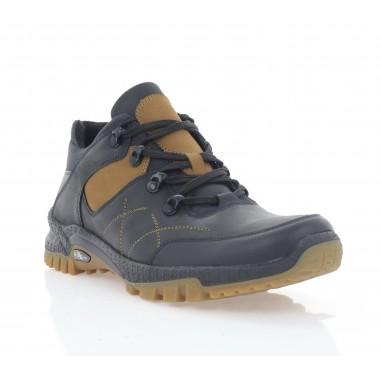 Кросівки чоловічі чорні/рижі, шкіра (5073 чн. Шк_риж (байка)) Roma style