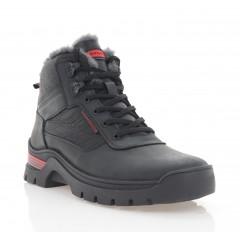 Ботинки мужские черные, кожа (5074 чн. Крейз (шерсть)) Roma style